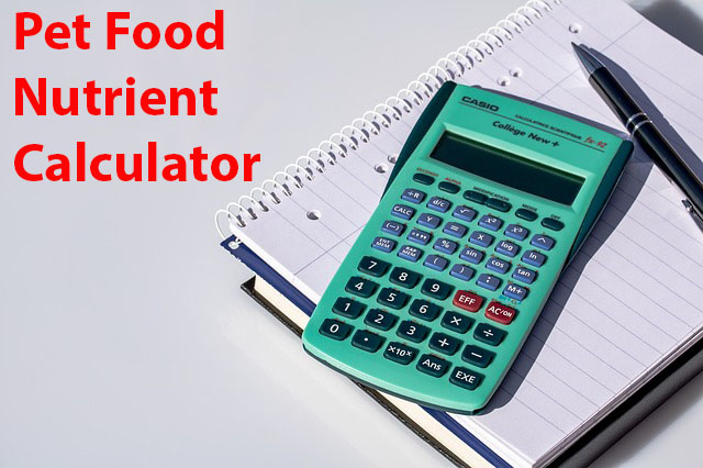 Pet Food Calculator: Comparing nutrient levels between two pet foods